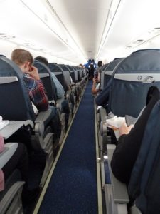 機内の通路座席