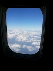 窓側座席からの景色