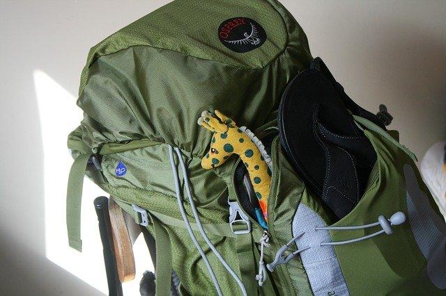 海外旅行のバッグパック
