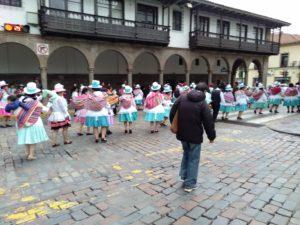 クスコの水かけ祭り