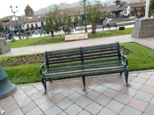 アルマス広場のベンチ