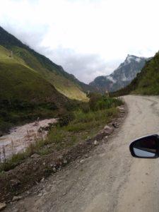 クスコからマチュピチュ間の悪路