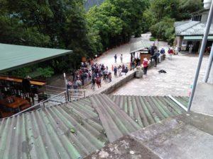マチュピチュ遺跡入口のスタンプ台
