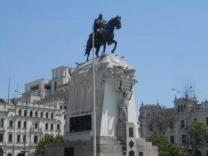 サン・マルティン将軍の騎馬像
