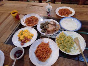 みんなで作った夕食