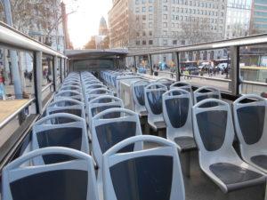 バルセロナ・バス・ツーリスティックの2階席