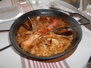 バルセロナで食べたパエリア