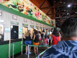 ブラジル側のイグアス国立公園チケット売り場