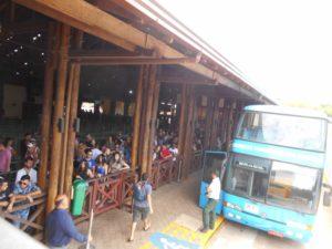 ブラジル側のイグアス国立公園バス乗り場