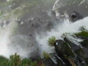 ギリギリまで身を乗り出して撮影したイグアスの滝