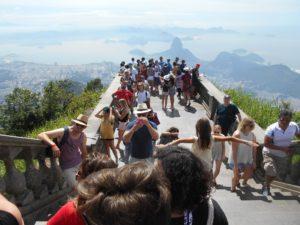 コルコバードの丘から見渡すリオデジャネイロの景色