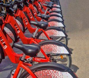 スペインのレンタル自転車