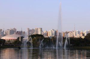 大相撲が開催されたイビラプエラ公園の総合体育館