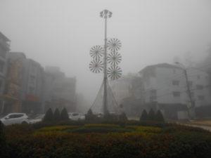 霧に包まれたサパ