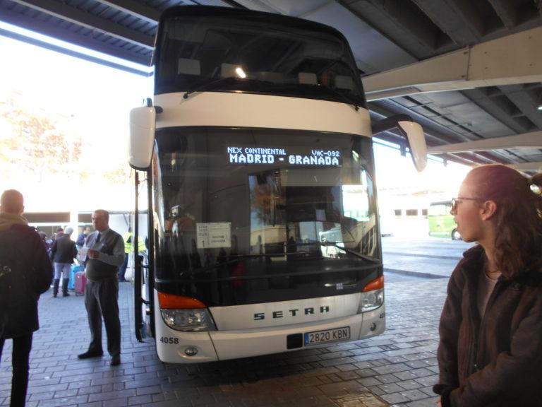 グラナダ行のバス