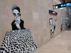 地下鉄の壁画