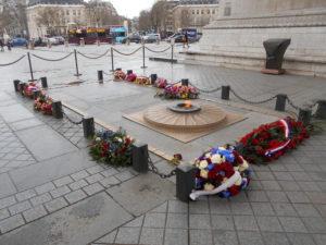 第一次世界大戦で犠牲になった無名戦士の墓