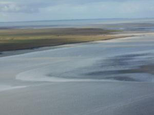 潮が満ちたサン・ロマ湾