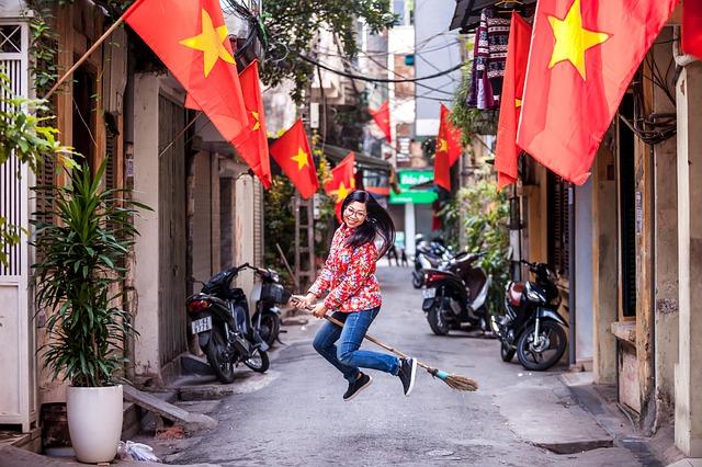 ハノイ市内のベトナム人女性