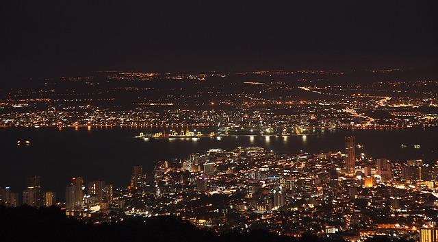 ペナン島の夜景