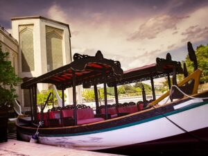 プトラジャヤ湖の小型ボート