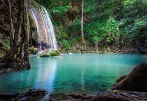 エラワン国立公園の滝