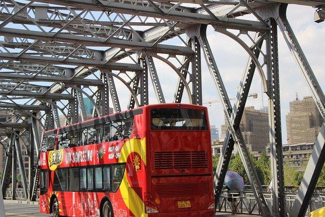 上海の2階建てバス