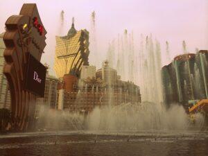 ウィン・マカオの「噴水ショー」
