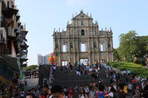 聖ポール天主堂跡の前にある68段の階段