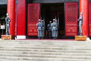 国民革命忠烈祠の「衛兵の交代式」