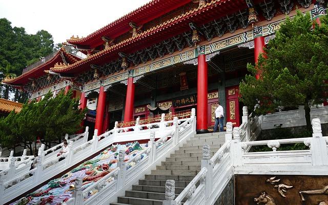 日月潭にある台湾最大級の「文武廟」