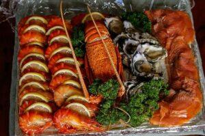 牡蠣とロブスター