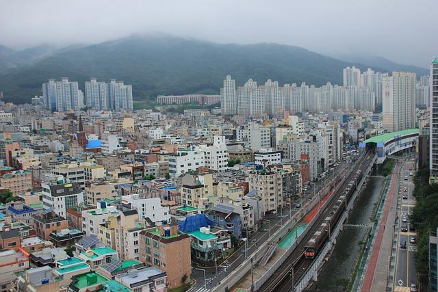 ソウルから釜山へ到着する電車