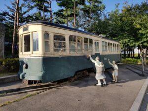 ソウル歴史博物館に展示されている路面電車